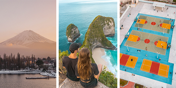 Amazing Travel Destinations in Asia - Mt. Fuji, Nusa Penida and Hong Kong