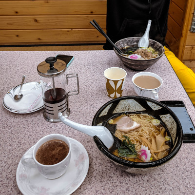 Ramen on the slopes in Japan