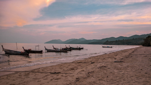 Sunset at the beach in Koh Yao Yai, Thailand