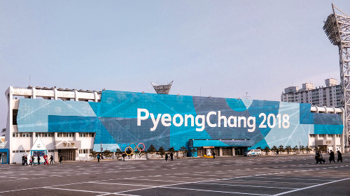 Pyeongchang Winter Olympics 2018 in Gangneung, Korea