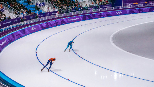 Men's 10000m speed skating at the Pyeongchang Winter Olympics 2018 in Gangneung, Korea