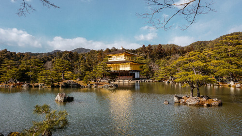 Kinkaku-Ji Golden Pavilion Temple in Kyoto, Japan