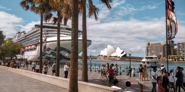 Circular Quay and the Opera House in Sydney, Australia